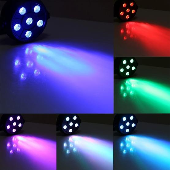 3W Colorful LED PAR Light , 6 LEDs Auto Run / Sound Control LED Stage Light, AC 85-260V, US/EU Plug - 8