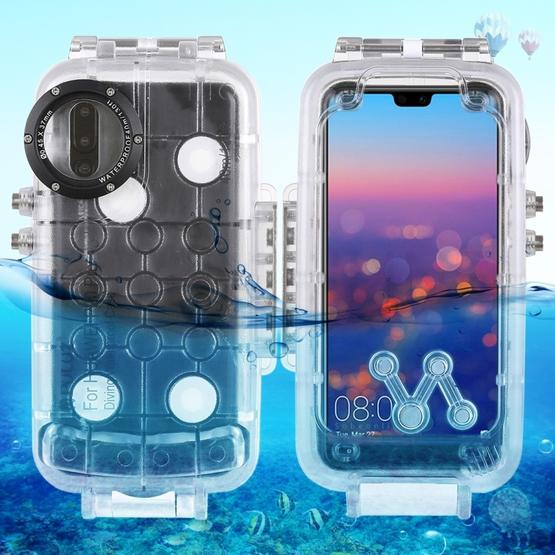 separation shoes e8697 6607e PULUZ 40m/130ft Waterproof Diving Housing Photo Video Taking Underwater  Cover Case for Huawei P20 Pro(Transparent)