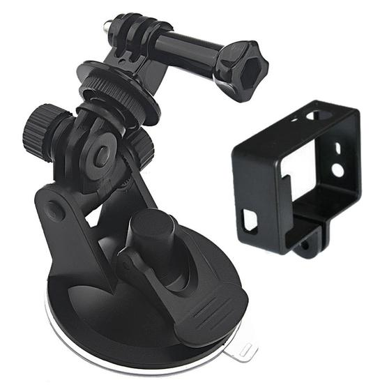 YKD -116 2 in 1 Suction Cup Mount + Frame Mount Set for GoPro HERO4 /3+ /3 - 1