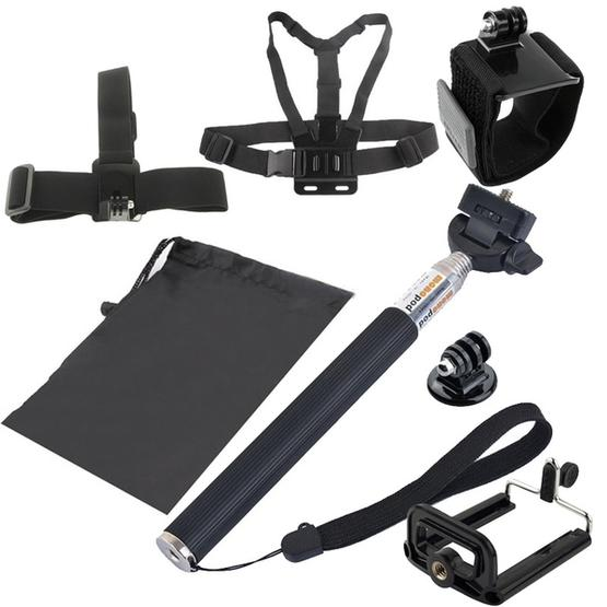 YKD-112 7 in 1 Chest Belt + Wrist Belt + Head Strap + Selfie Monopod + Tripod Mount + Carry Bag Set for GoPro NEW HERO / HERO7 /6 /5 /5 Session /4 Session /4 /3+ /3 /2 /1, Xiaoyi and Other Action Cameras - 1