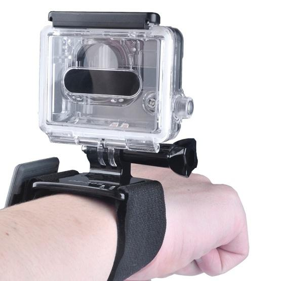 YKD-106 7 in 1 Chest Belt + Wrist Belt + Head Strap + Floating Bobber Monopod + Remote Wrist Belt + Carry Bag Set for GoPro NEW HERO /HERO7 /6 /5 /4 /3+ /3 /2 /1 / SJ4000 - 3