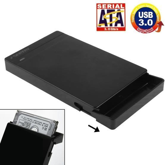 2.5 inch SATA HDD / SSD External Enclosure, Tool Free, USB 3.0 Interface(Black) - 2