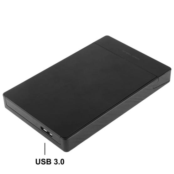 2.5 inch SATA HDD / SSD External Enclosure, Tool Free, USB 3.0 Interface(Black) - 4