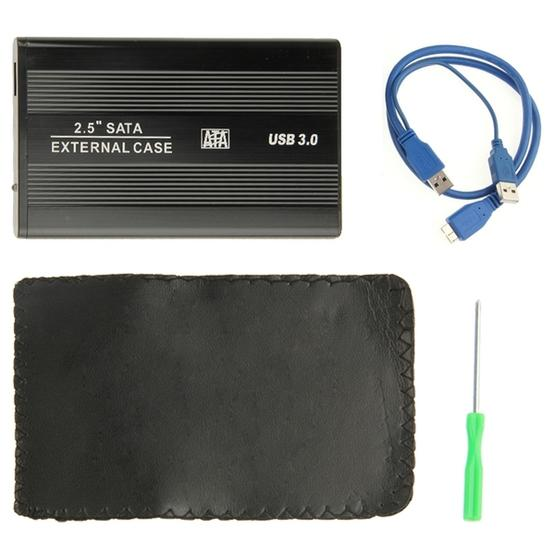 High Speed 2.5 inch HDD SATA External Case, Support USB 3.0(Black) - 7