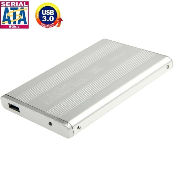 High Speed 2.5 inch HDD SATA External Case, Support USB 3.0(Silver) - 1