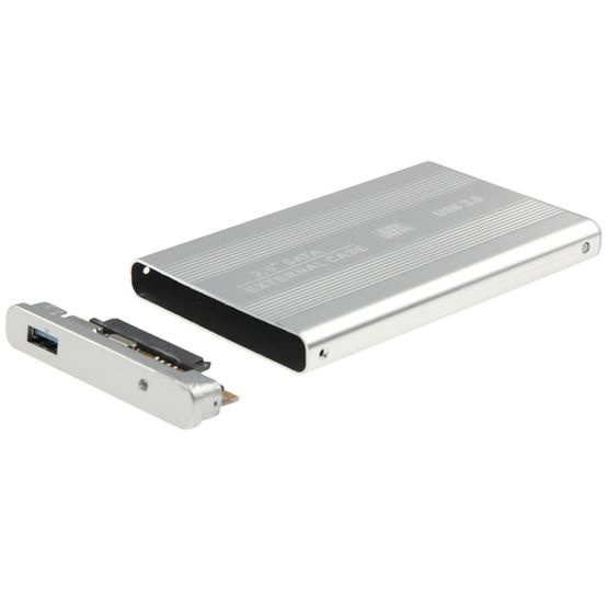 High Speed 2.5 inch HDD SATA External Case, Support USB 3.0(Silver) - 4