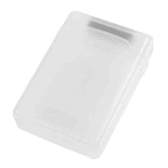 3.5 inch Hard Drive Disk HDD SATA IDE Plastic Storage Box Enclosure Case(White) - 2