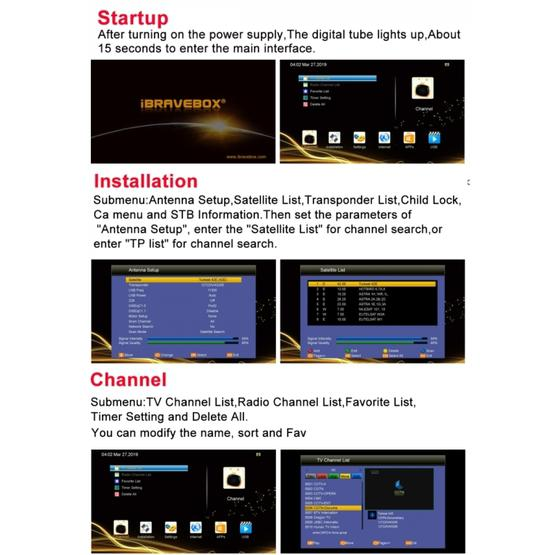 iBRAVEBOX V8 MAGIC Digital Satellite Signal Finder Meter, Support  H 265+DVB-S/S2 & IPTV