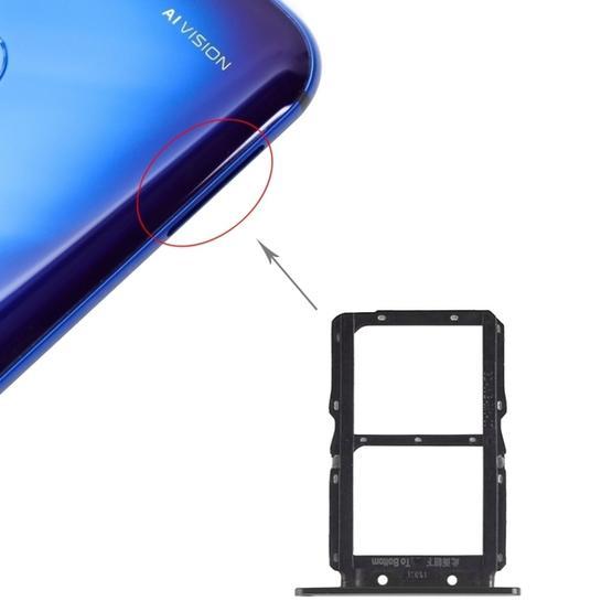 SIM Card Tray + SIM Card Tray for Huawei Honor View 20 (Honor V20) (Black)