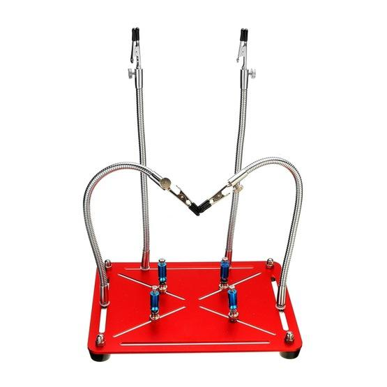 Universal Metal 4 Flexible Arms Magnetic Helping Hands Soldering Work Repair Tool PCB Circuit Board Holder Stand - 2