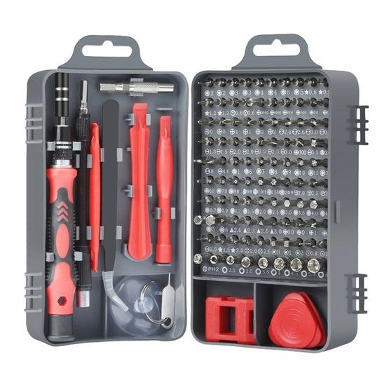 115 in 1 Precision Screw Driver Mobile Phone Computer Disassembly Maintenance Tool Set(Red) - 1