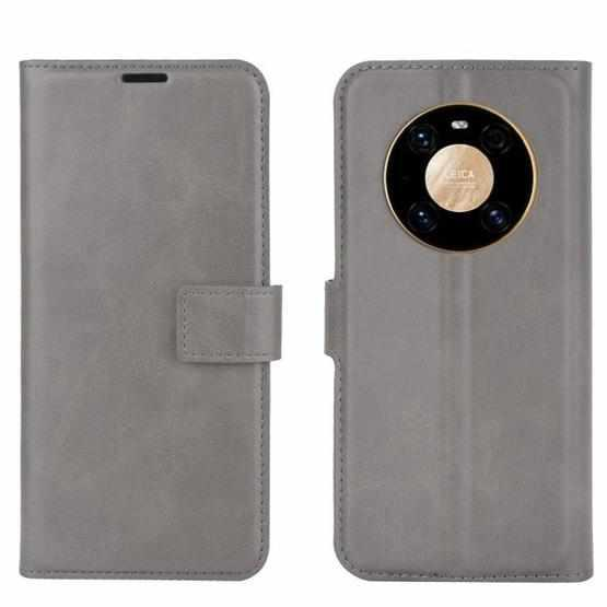 For Huawei Mate 40 Pro Retro Calf Pattern Buckle Horizontal Flip Leather Case with Holder & Card Slots & Wallet(Grey) - 3