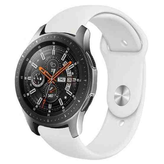 Monochrome Silicone Strap for Samsung Galaxy Watch Active 2 22mm(white) - 1