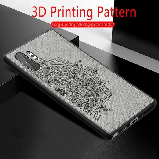 Embossed Mandala Pattern Magnetic PC + TPU + Fabric Shockproof Case for Galaxy Note10+, with Lanyard(Rose Gold) - 9
