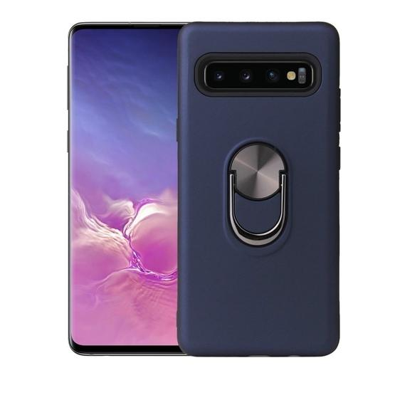 360 Rotary Multifunctional Stent PC+TPU Case for Galaxy S10+ ,with Magnetic Invisible Holder(Navy Blue) - 1