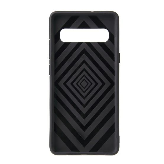 360 Rotary Multifunctional Stent PC+TPU Case for Galaxy S10+ ,with Magnetic Invisible Holder(Navy Blue) - 3