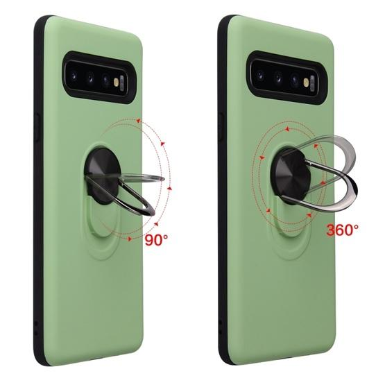 360 Rotary Multifunctional Stent PC+TPU Case for Galaxy S10+ ,with Magnetic Invisible Holder(Navy Blue) - 5