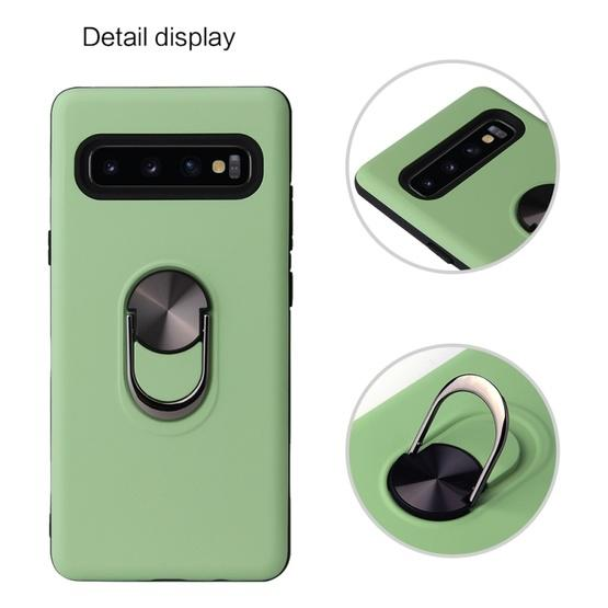 360 Rotary Multifunctional Stent PC+TPU Case for Galaxy S10+ ,with Magnetic Invisible Holder(Navy Blue) - 6