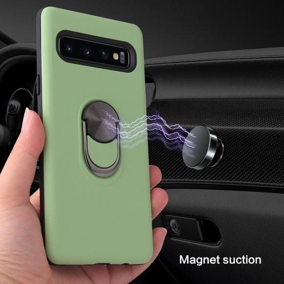 360 Rotary Multifunctional Stent PC+TPU Case for Galaxy S10+ ,with Magnetic Invisible Holder(Navy Blue) - 9