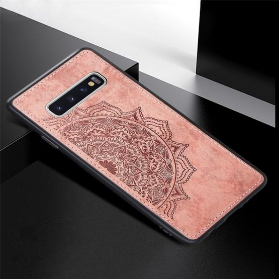 For Galaxy S10 Embossed Mandala Pattern PC + TPU + Fabric Phone Case with Lanyard & Magnetic(Rose Gold) - 2