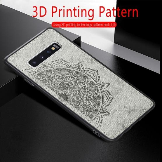 For Galaxy S10 Embossed Mandala Pattern PC + TPU + Fabric Phone Case with Lanyard & Magnetic(Rose Gold) - 10