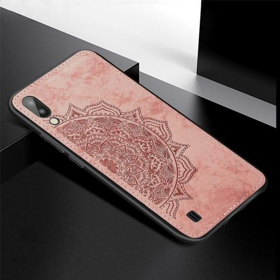 For Galaxy M10 Embossed Mandala Pattern PC + TPU + Fabric Phone Case with Lanyard & Magnetic(Rose Gold) - 2