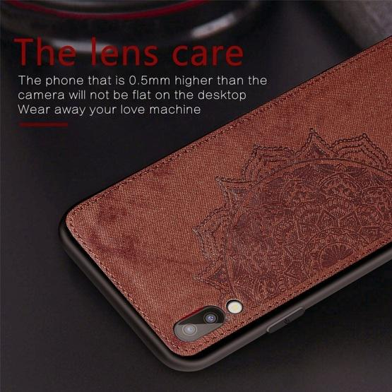 For Galaxy M10 Embossed Mandala Pattern PC + TPU + Fabric Phone Case with Lanyard & Magnetic(Rose Gold) - 7