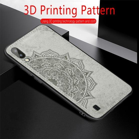 For Galaxy M10 Embossed Mandala Pattern PC + TPU + Fabric Phone Case with Lanyard & Magnetic(Rose Gold) - 10