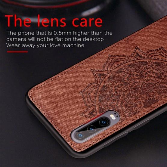 For Huawei P30 Embossed Mandala Pattern PC + TPU + Fabric Phone Case with Lanyard & Magnetic(Rose Gold) - 6