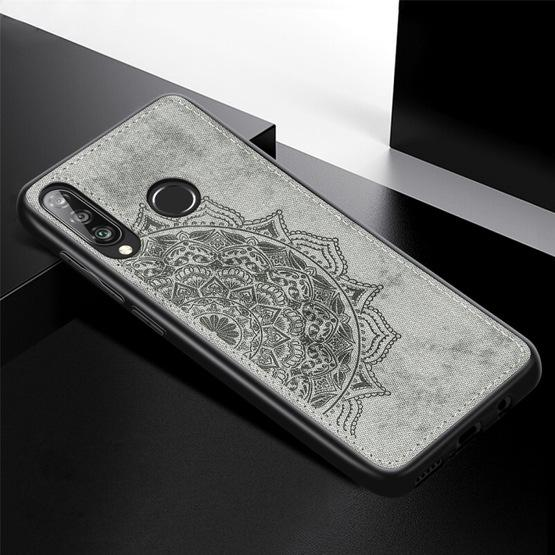 For Huawei P30 Lite & Nova 4E Embossed Mandala Pattern PC + TPU + Fabric Phone Case with Lanyard & Magnetic(Gray) - 2