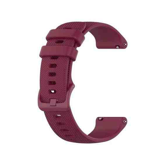 20mm Silicone Strap For Huami Amazfit GTS / Samsung Galaxy Watch Active 2 / Gear Sport(Wine red) - 4