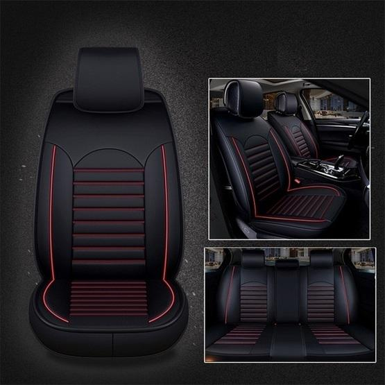 Universal Pu Leather Car Seat Cover Black Red Flutter Shopping