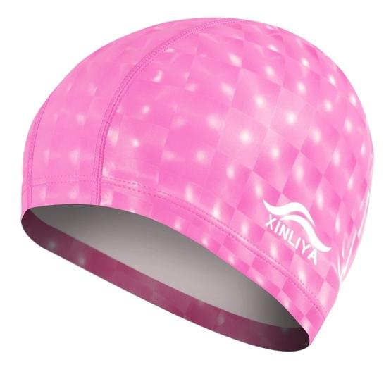 XINLIYA PU Coated Waterproof Swimming Cap(Pink) - 2