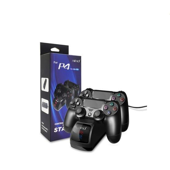 USB Dual Charger Dock Station with LED Indicator for PS4 Wireless Controller(Black ) - 2
