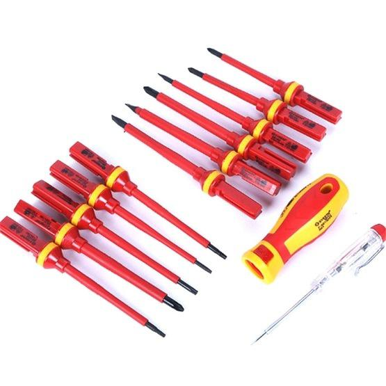 13 in 1 VDE Industrial Telecommunications High Pressure Resistant Screwdriver Set Apple Phone Repair Tool Screwdriver - 1