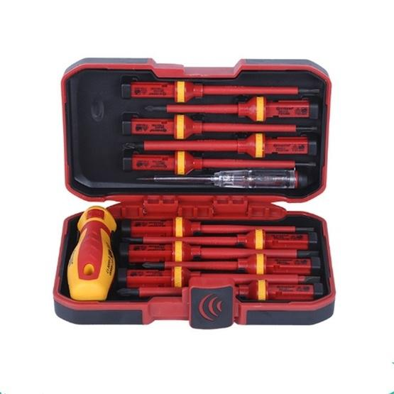 13 in 1 VDE Industrial Telecommunications High Pressure Resistant Screwdriver Set Apple Phone Repair Tool Screwdriver - 5