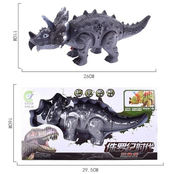 Simulation Luminous Sound Electric Universal Dinosaur Model Toy Boy Gift(Triceratops(Rondom Colors)) - 5