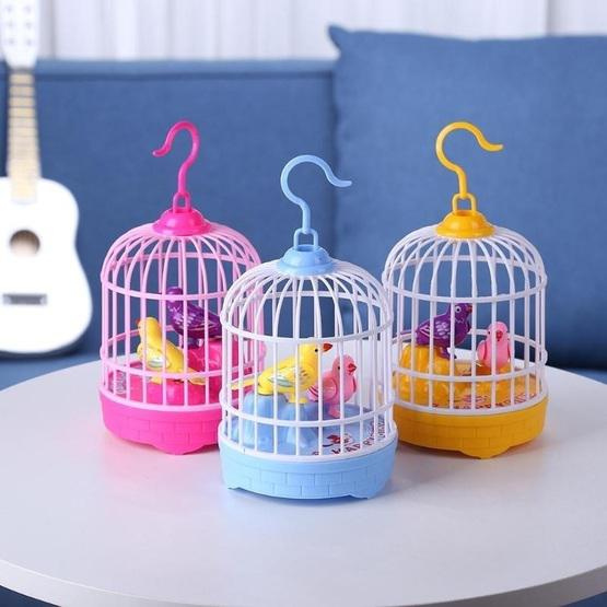 Voice-activated Electric Birdcage Mini Children Toys(Red) - 8