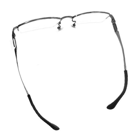 10 Pairs Square Hole Metal Spectacles Foot Cover Silicone Non-slip Fine Mirror Leg Cover Glasses Accessories - 4