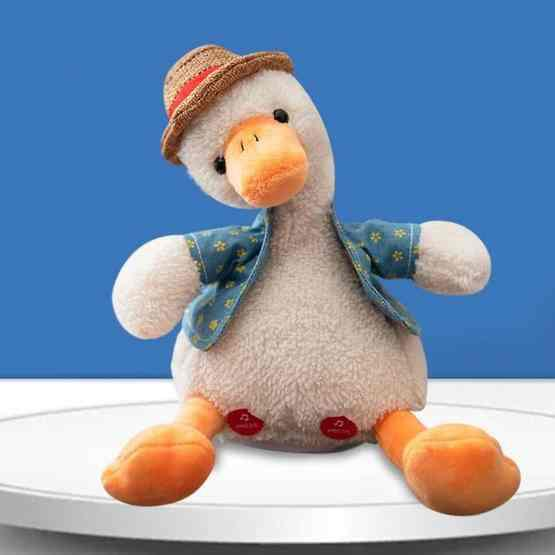 Repeat Duck Tricky Duck Learn Talking Singing Plush Duck Toy, Style:Interactive Ver. - 1