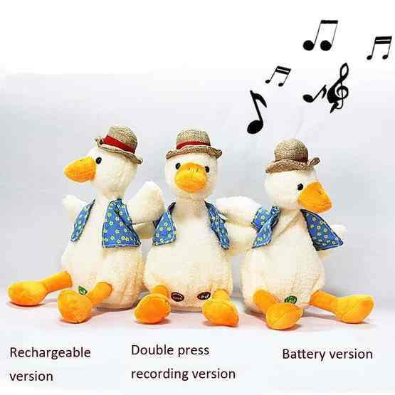 Repeat Duck Tricky Duck Learn Talking Singing Plush Duck Toy, Style:Interactive Ver. - 2