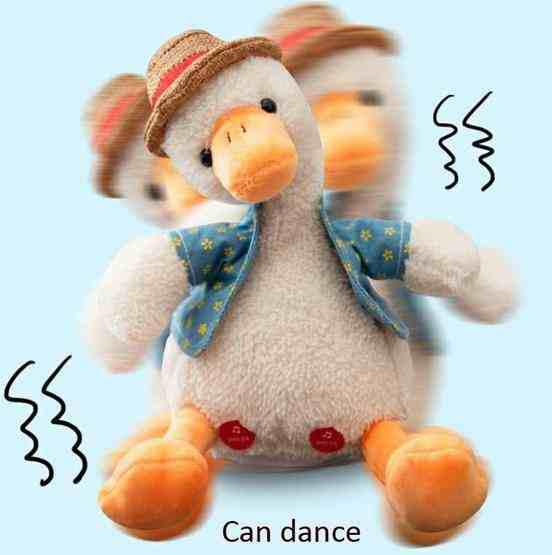Repeat Duck Tricky Duck Learn Talking Singing Plush Duck Toy, Style:Interactive Ver. - 3