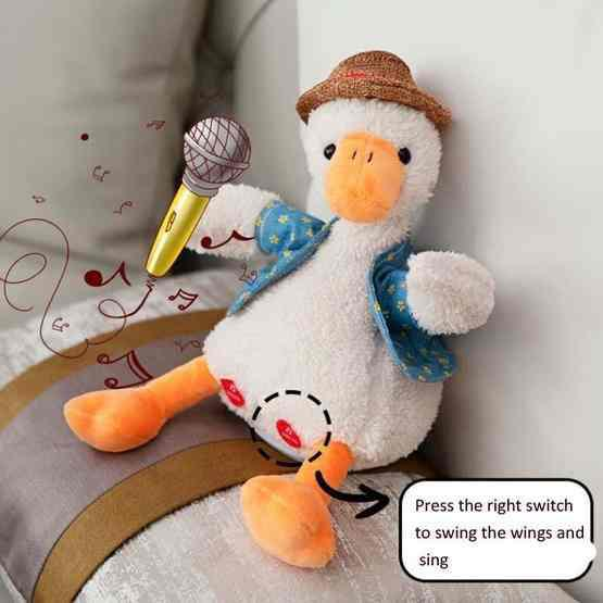 Repeat Duck Tricky Duck Learn Talking Singing Plush Duck Toy, Style:Interactive Ver. - 4