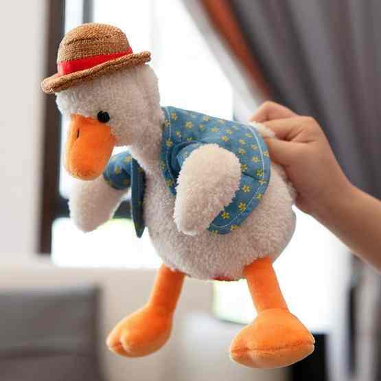 Repeat Duck Tricky Duck Learn Talking Singing Plush Duck Toy, Style:Interactive Ver. - 7