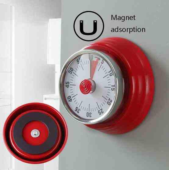 Kitchen Timer Convenient Home Timer Magnetic Alarm Clock(White) - 4