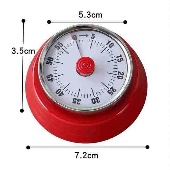 Kitchen Timer Convenient Home Timer Magnetic Alarm Clock(White) - 6