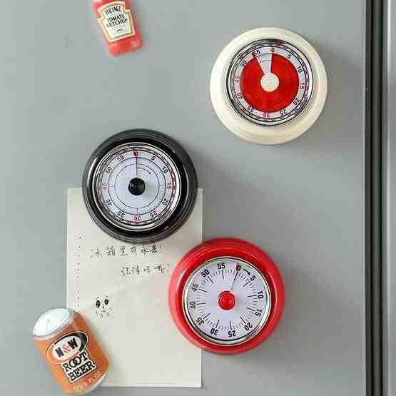 Kitchen Timer Convenient Home Timer Magnetic Alarm Clock(White) - 7