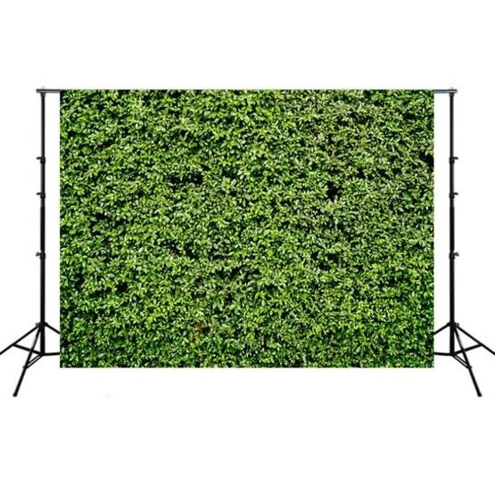2.1m x 1.5m Green Leaves Wall Birthday party photography background cloth - 1