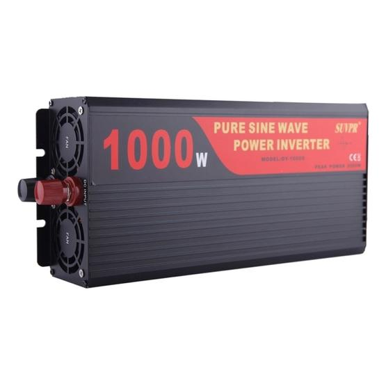 SUVPR DY-LG1000S 1000W DC 12V to AC 220V 50Hz Pure Sine Wave Car Power Inverter with Universal Power Socket - 1