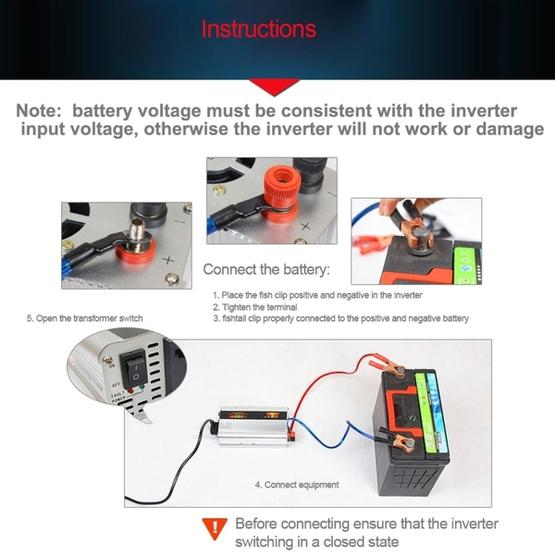 SUVPR DY-LG1000S 1000W DC 12V to AC 220V 50Hz Pure Sine Wave Car Power Inverter with Universal Power Socket - 8